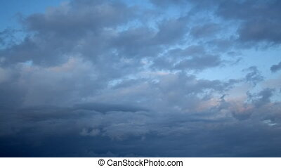 Bluish Darkening Clouds - Wide angle of view; epic clouds...