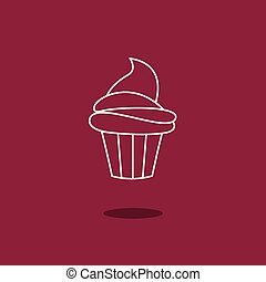 Cup Cake. - Cup Cake Vector Illustration.
