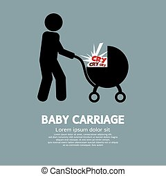 Baby Carriage. - Baby Carriage Vector Illustration.