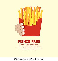 French Fries. - French Fries Vector Illustration.