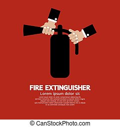 Fire Extinguisher. - Fire Extinguisher Vector Illustration.