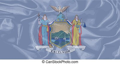 New York State Silk Flag