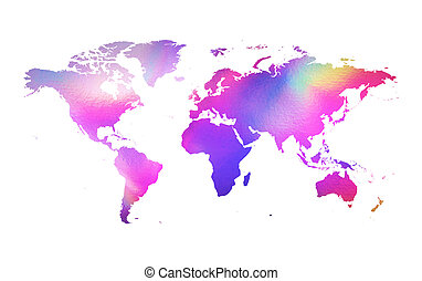 Holographic map - An illustration of a holographic earth map...