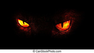 Demon eyes - An illustration of burning demonic eyes.