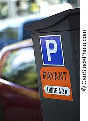 Car park - Entrance to a car-park in France