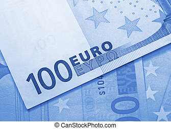 euro money background - 100 euros banknotes abstract...