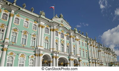 Hermitage facade motion timelapse - Palace Square or...