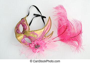 mask - carnival mask isolated on white