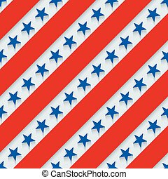 4th July. Stars and stripes wallpaper.