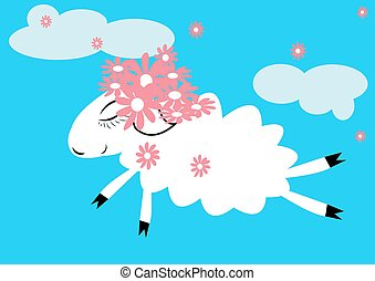 Sheep in the sky