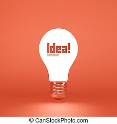 Idea concept. 3d vector illustration. Can be used as...