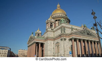 Saint Isaac's Cathedral sunny day motion timelapse - Saint...
