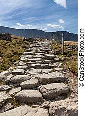 ścieżka,  snowdon,  Llanberis, góra