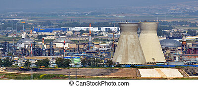 Tel Aviv - Israel - HAIFA, ISR - APR 21 2015:Oil Refineries...