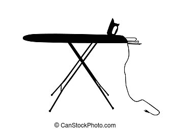 ironing board vector silhouette