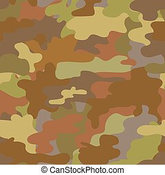 Seamless camouflage military pattern brown vector - Seamless...