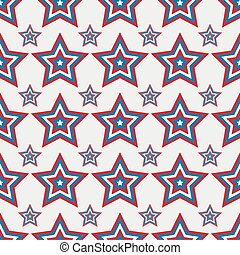 July 4 seamless pattern with stars- vector illustration