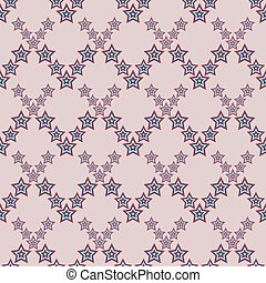 July 4, seamless star pattern American - vector illustration