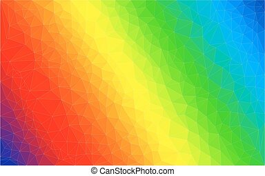 Colorful polygon vector background - Polygon gradient vector...