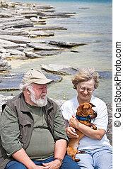 年長者, 夫婦, 藏品, 德國獵狗