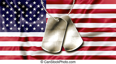Fourth July Dog Tags - Dog tags, identity plates, with copy...