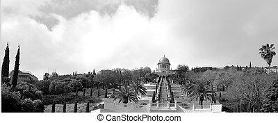 Bahai Temple and Gardens in Haifa Israel - HAIFA, ISR - MAR...