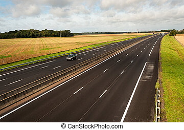 A13 Motoway - A13 French motorway from Paris to Caen through...
