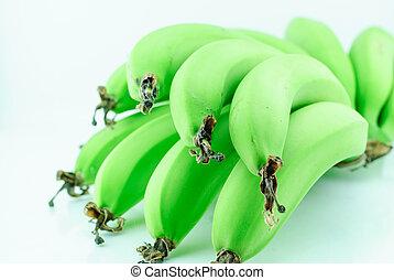 Green banana - Bunch Green banana isolated on white...