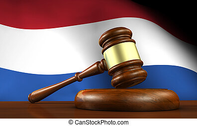 Netherlands Law And Dutch Justice Concept - Law and justice...