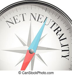 compass Net Neutrality - detailed illustration of a compass...