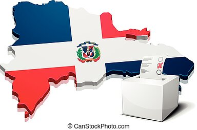 ballotbox Dominican Republic - detailed illustration of a...