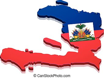 Map Haiti - detailed illustration of a map of Haiti with...