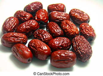 Jujube, Dried Red Dates upclose