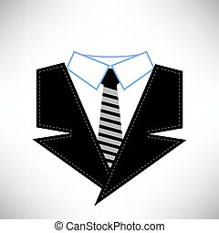 Business Suit Icon Isolated on White Background