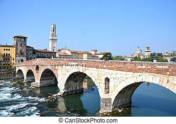 Verona, the beautiful historic center of the Veneto - Italy