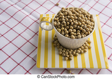 soybean milk grain natual vegan Asian diet concept - soybean...