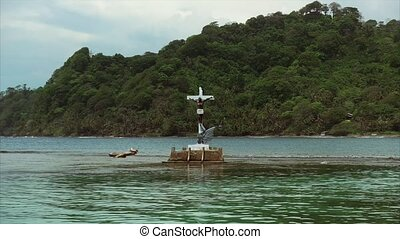 Isla Grande Panama Central America View Of Christ Statue -...