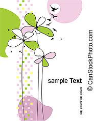 Floral summer background. Vector illustration