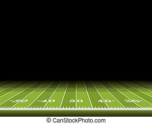 American Football Field Background Illustration - A view...