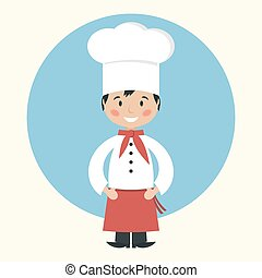 Funny cartoon chef cook