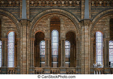 Interior view of the Natural History Museum in London