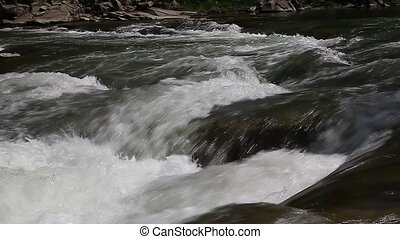 Mountain creek flowing water