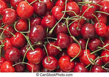 cherries - texture