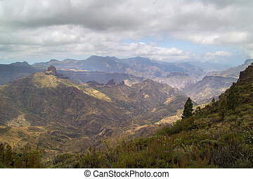 Inland Central Gran Canaria, Caldera de Tejeda, partially...