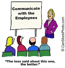 Communicate with Employees - Business cartoon about...