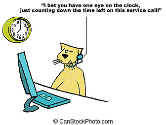 Customer Service - Business cartoon showing poor customer...