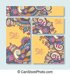 yellow collection of decorative floral greeting cards in...