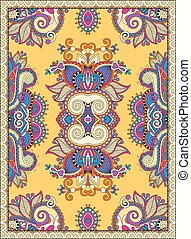 yellow ukrainian floral carpet design for print on canvas or...