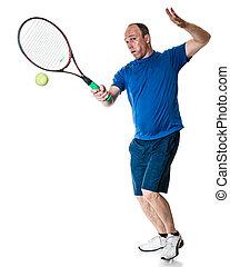 Tennis Action - Tennis action shot Forehand Studio shot over...
