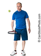 Tennis Player - Adult male tennis player. Studio shot over...